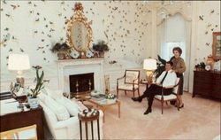 The Reagans Spend A Relaxed Moment Together In The Sitting Area Of Their Comfortable Bedroom