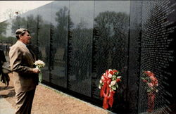 President Reagan Visits The Vietnam Memorial