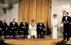 President And Nancy Reagan Pay Tribute To National Leaders Of The Arts