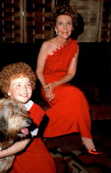 Nancy Reagan & Aileen Quinn