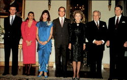 Monaco's Prince Rainier And His Royal Family Members