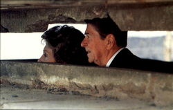 President Reagan And Nancy Visit A German Bunker