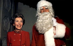 First Lady Nancy Reagan Gleefully Introduces Santa Claus