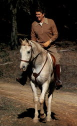 President Reagan Rides High In The Saddle