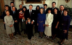 President And Mrs. Reagan Pose With Members Of Their Family