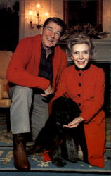 President Reagan And Nancy Show Off Lucky