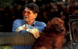 President Reagan And His Golden Retriever Victory