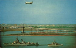 Naval Ships And The Cooper River Bridge