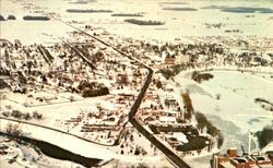Aerial View Of Frankenmuth Under Winter's Blanket