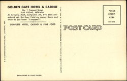 Golden Gate Hotel & Casino, No. 1 Fremont St