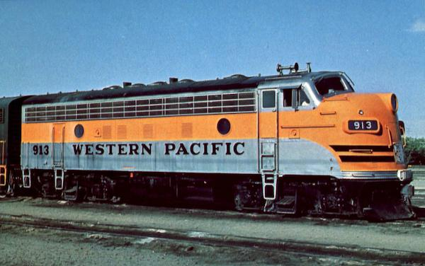 Western Pacific 913 Trains, Railroad
