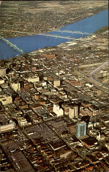 Aerial View Of Louisville Kentucky