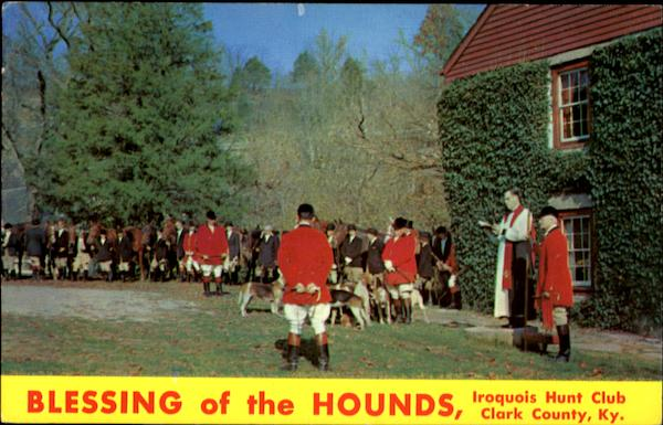 Blessing Of The Hounds Iroquois Hunt Club Clark County Kentucky