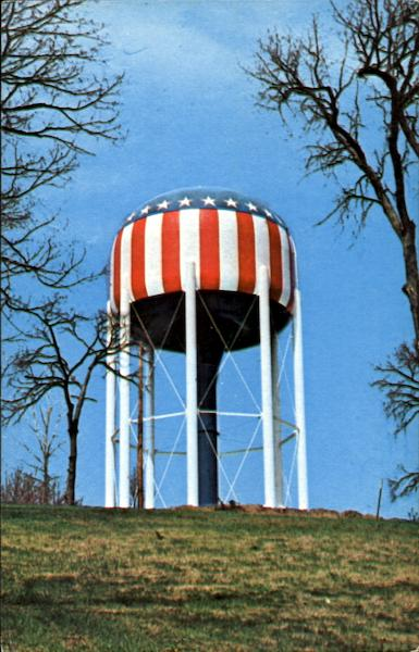 The Nation's Most Patriotic Water Tank Bowling Green Kentucky
