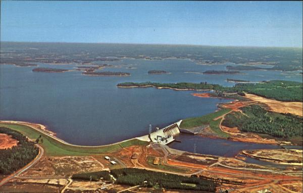 Aerial View Of Lake Norman Scenic North Carolina