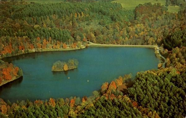 Aerial View Of Bass Lake, Moses H. Cone Memorial Park Blowing Rock North Carolina
