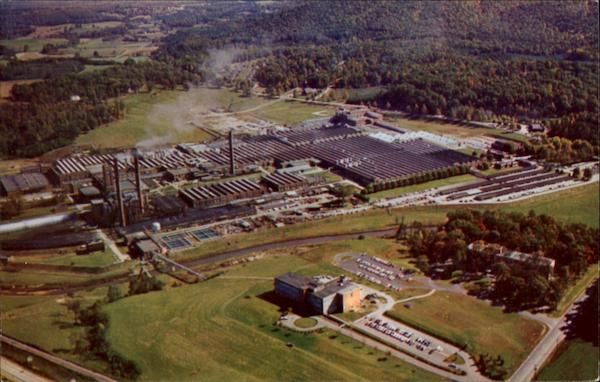 Aerial View Of American Enka Corporation Plants And Offices North Carolina