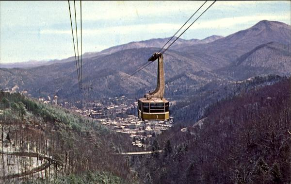 A Panoramic View Of Gatlinburg Tennessee