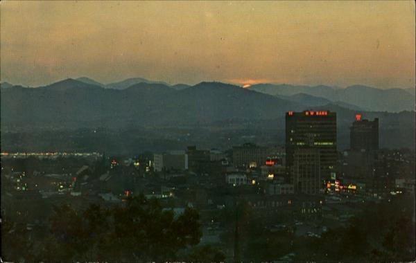 Asheville As Seen At Dusk North Carolina