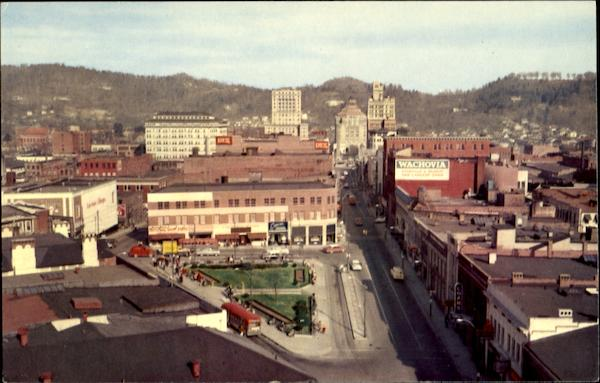 A Panoramic View Of Asheville North Carolina