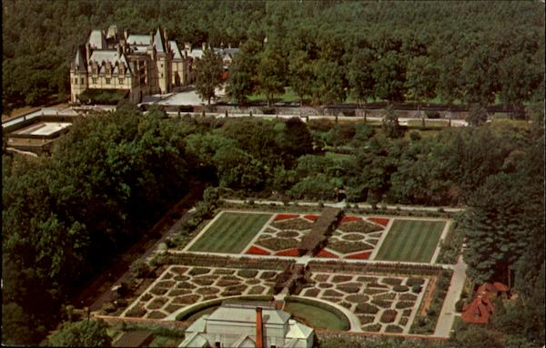 Aerial View Of Biltmore House And Gardens Asheville North Carolina