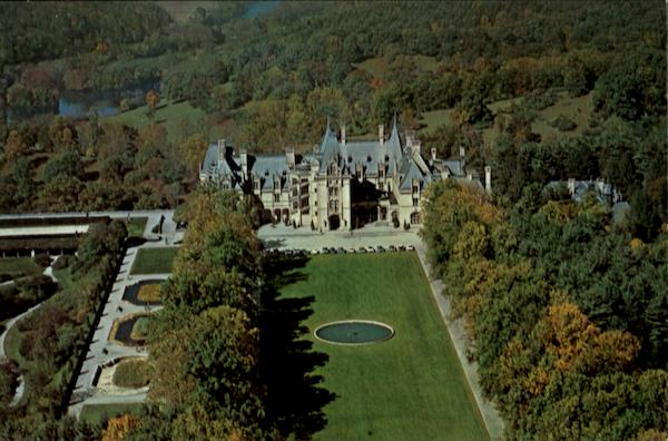 Aerial View Of Biltmore House Asheville North Carolina