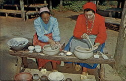 Cherokee Indian Pottery Makers, Oconaluftee Indian Village