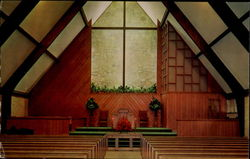 Interior Of The Associate Reformed Presbyterian Chapel Postcard