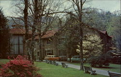 Spring Time Scene Showing Anderson Auditorium
