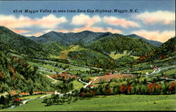 Maggie Valley As Seen From Soco Gap Highway