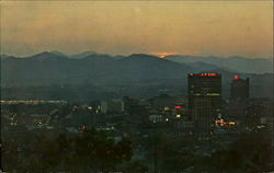 Asheville As Seen At Dusk