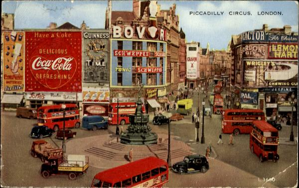 Piccadilly Circus Coca Cola London England