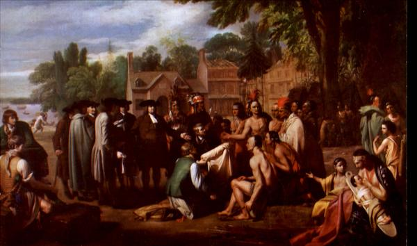 Penn's Treaty With The Indians Benjamin West Art