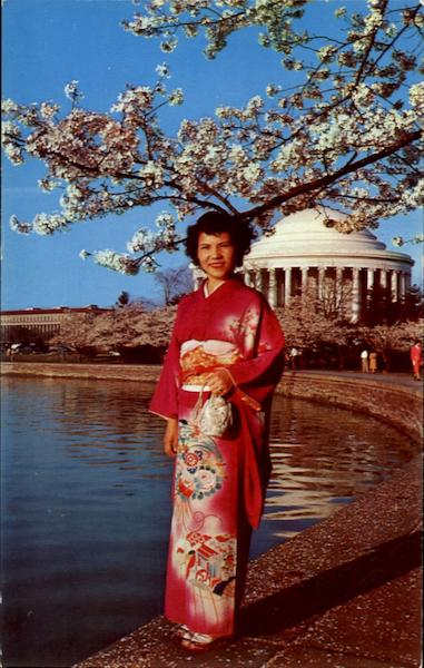A Fair Visitor From Nippon Poses In Her National Dress Washington District of Columbia