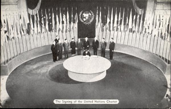 The Signing Of The United Nations Charter New York, NY