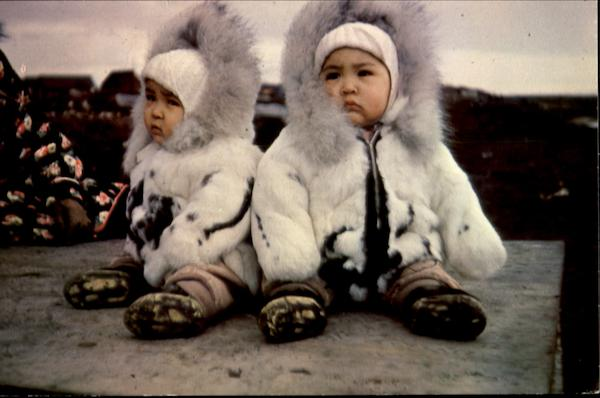 Eskimo Twins Alaska Native Americana