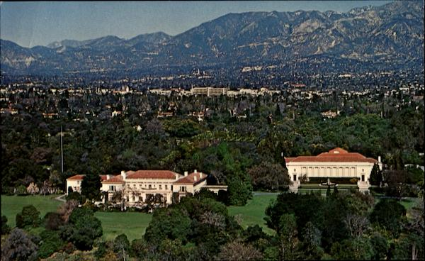 Aerial View Henry E. Huntington Library And Art Gallery San Marino California
