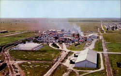 Aerial View Of Largest Raw Sugar Mill In Continental United States Postcard