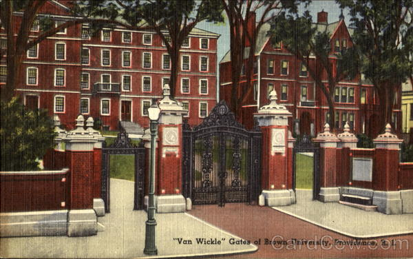 Van Wickle, Gates of Brown University Providence Rhode Island