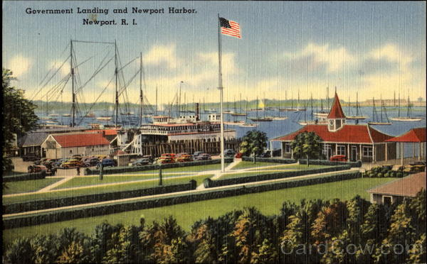 Government Landing And Newport Harbor Rhode Island