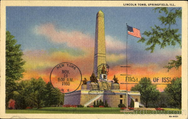 Lincoln Tomb Springfield Illinois First Day Covers