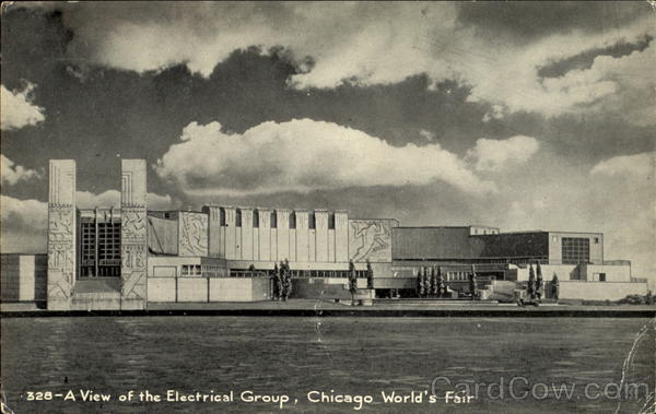 A View Of The Electrical Group 1933 Chicago World Fair