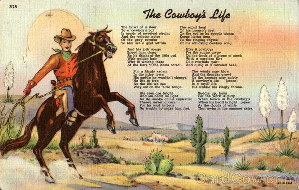 The Cowboy's Life Cowboy Western