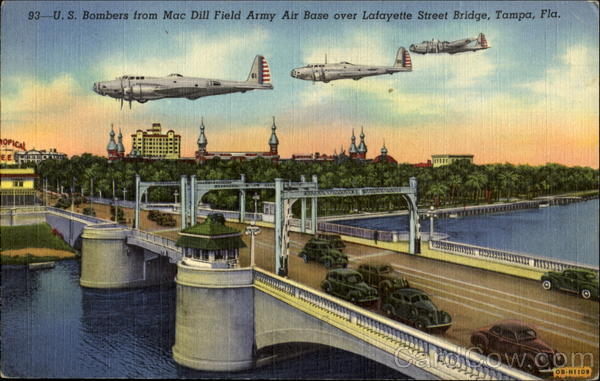 U. S. Bombers From Mac Dill Field Army Air Base Tampa Florida
