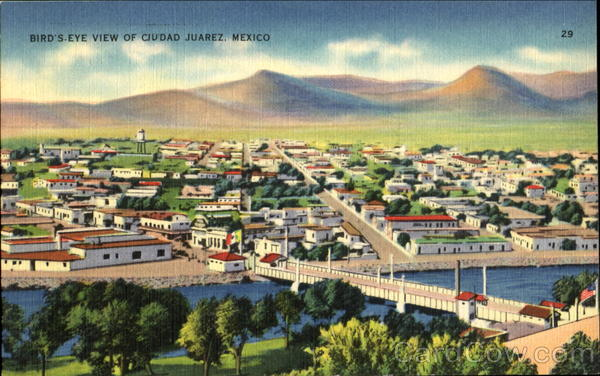 Bird's Eye View Of Ciudad Juarez Mexico