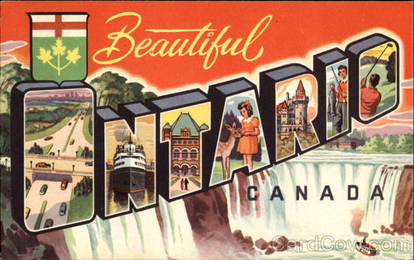 Beautiful Ontario Canada Large Letter