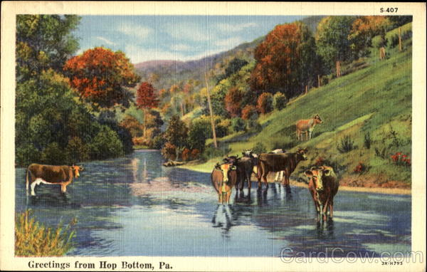 Greetings From Hop Bottom Pennsylvania