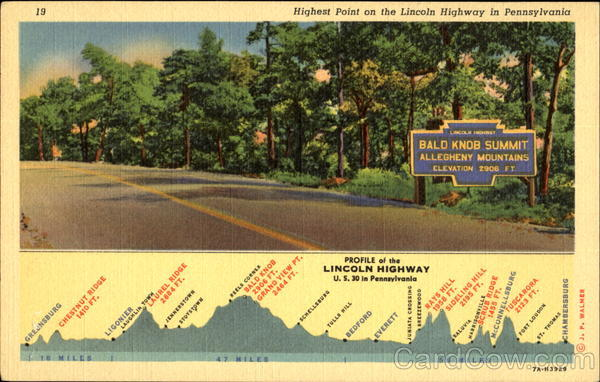 Highest Point On The Lincoln Highway Scenic Pennsylvania