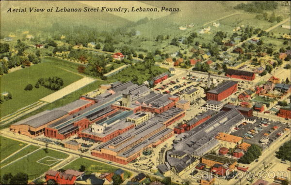 Aerial View Of Lebanon Steel Foundry Pennsylvania