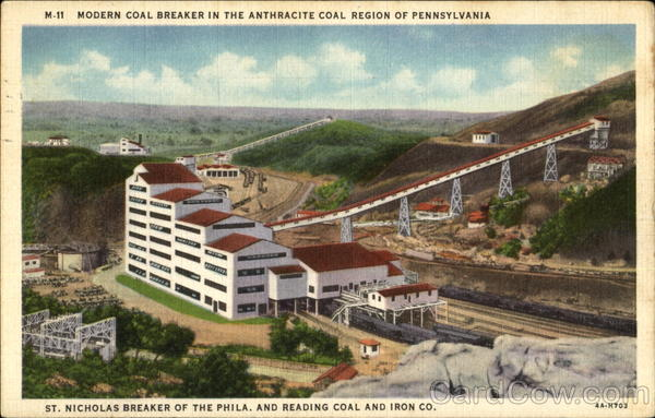 Modern Coal Breaker In The Anthracite Coal Region Pennsylvania